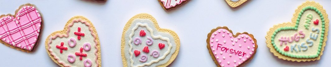 Heart shaped biscuits